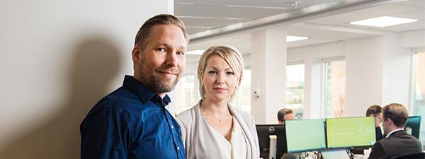Ola Brehm och Veronica Lind. Foto: Anders G Warne