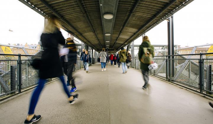 Bild av Lund C perrong. Foto: Lunds kommun.