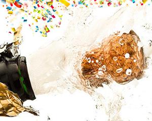1858 confetti champagne
