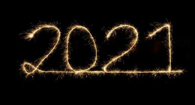 Bild på texten 2021.