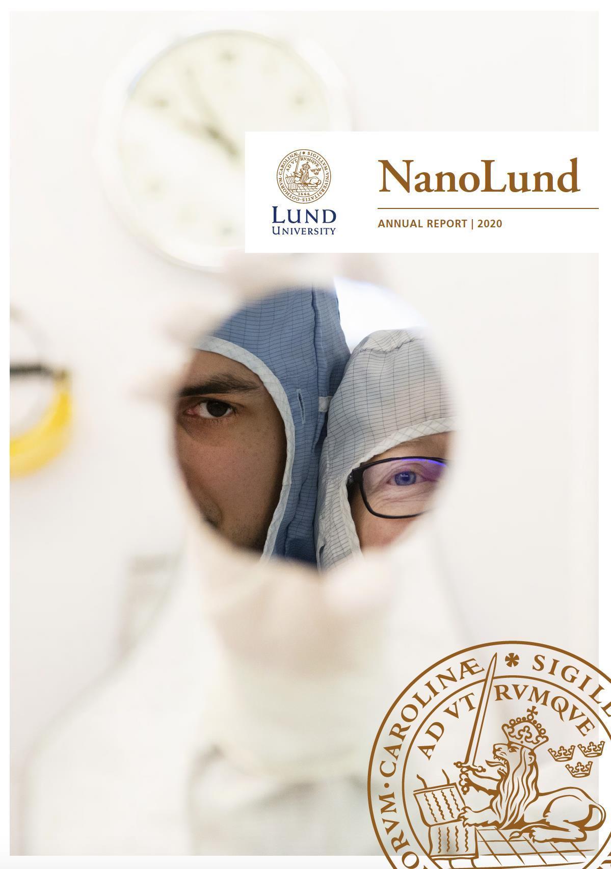 Cover of NanoLund's Annual Report 2020