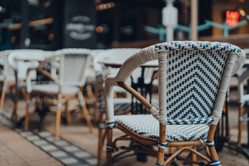1154 40298809 outdoor chairs and tables of a restaurant