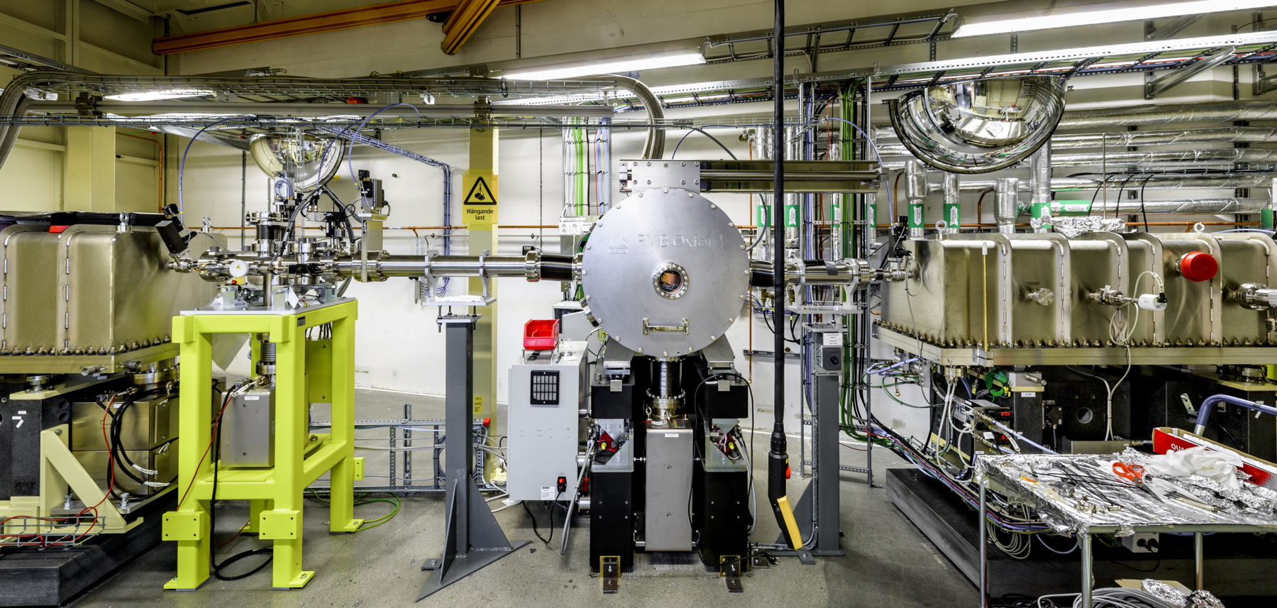 Photo of the Balder beamline at MAX IV. Photo: Kennet Ruona.
