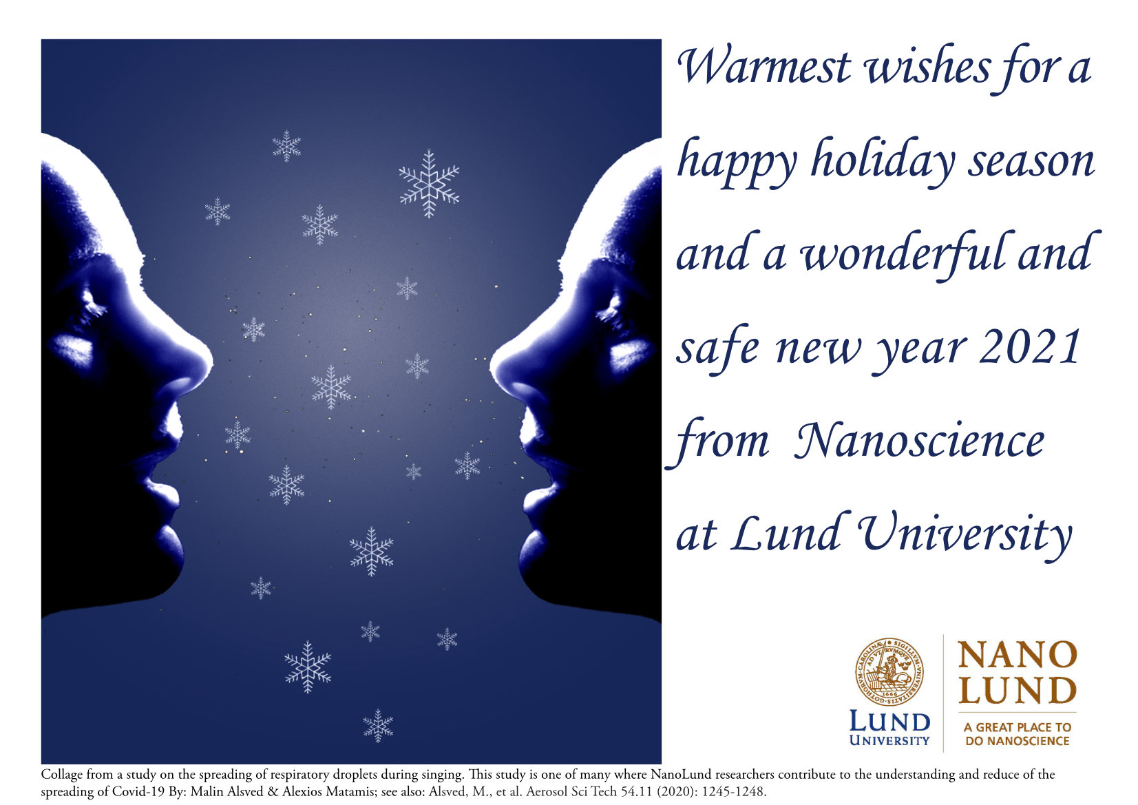 2020 Holiday card from NanoLund