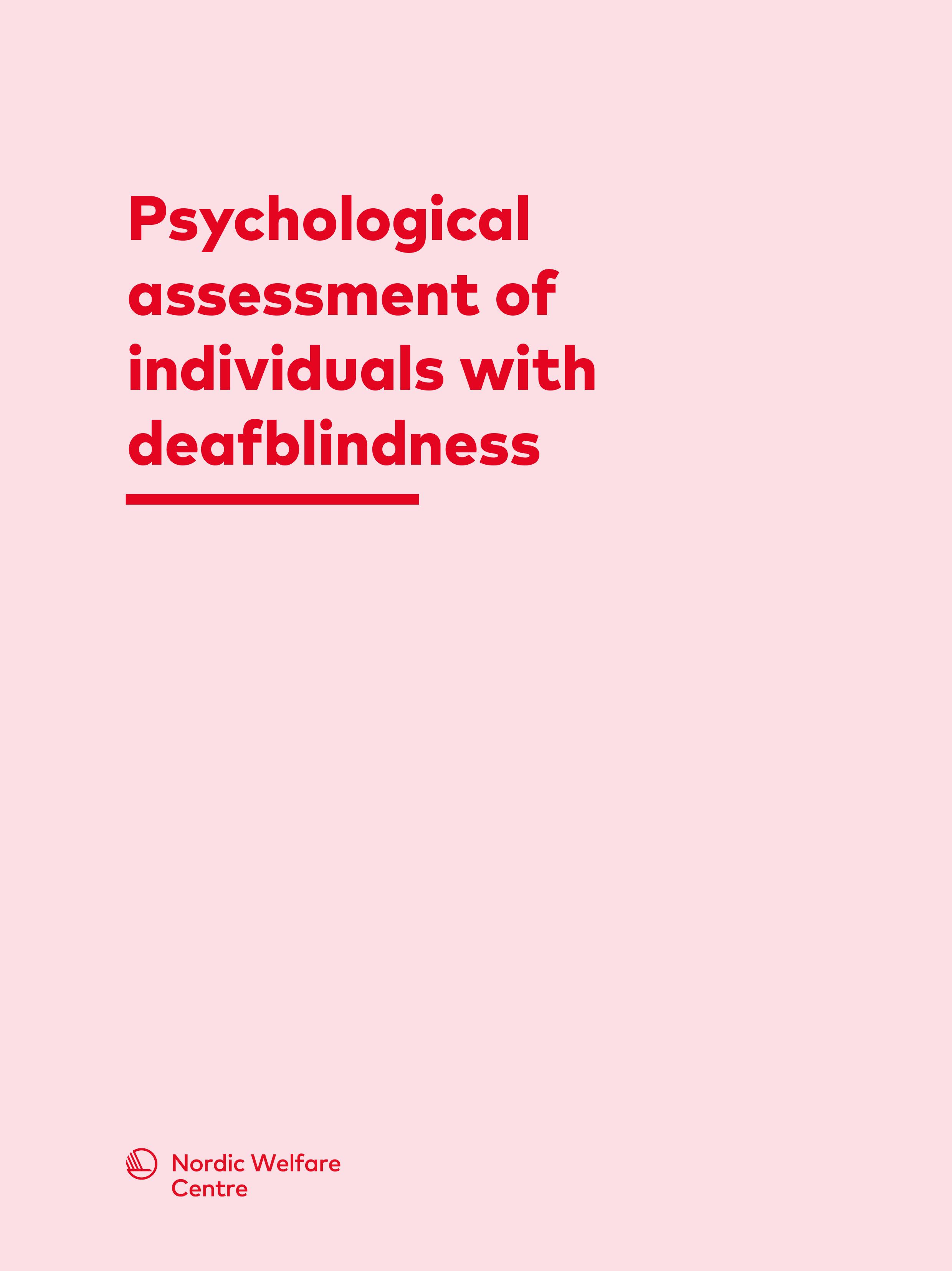 Omslaget till boken Psychological assessment of individuals with deafblindness