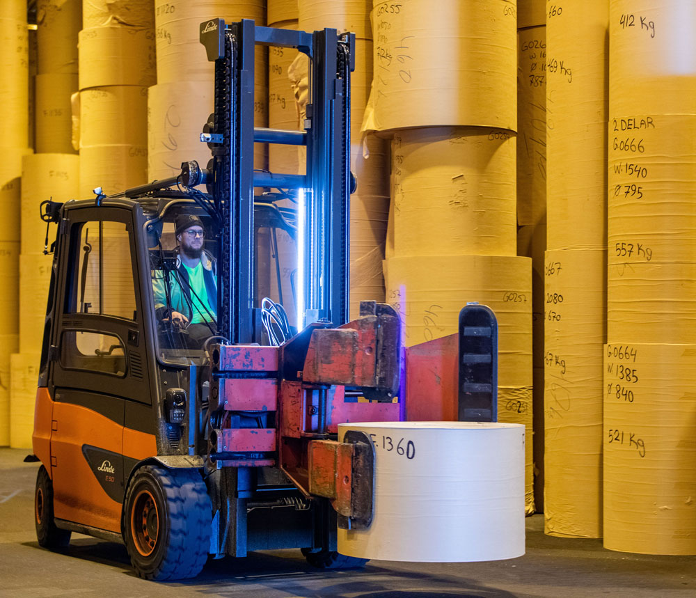 Electric forklift from Linde on trial with us