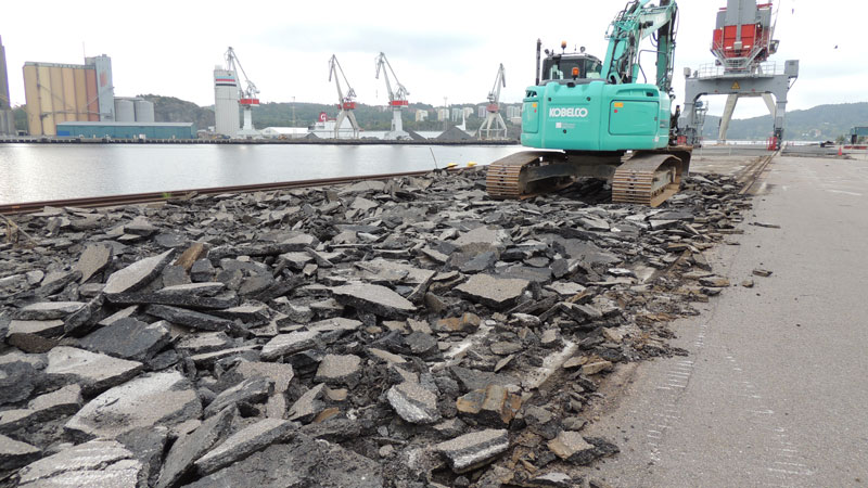 Work on Sörvik quay