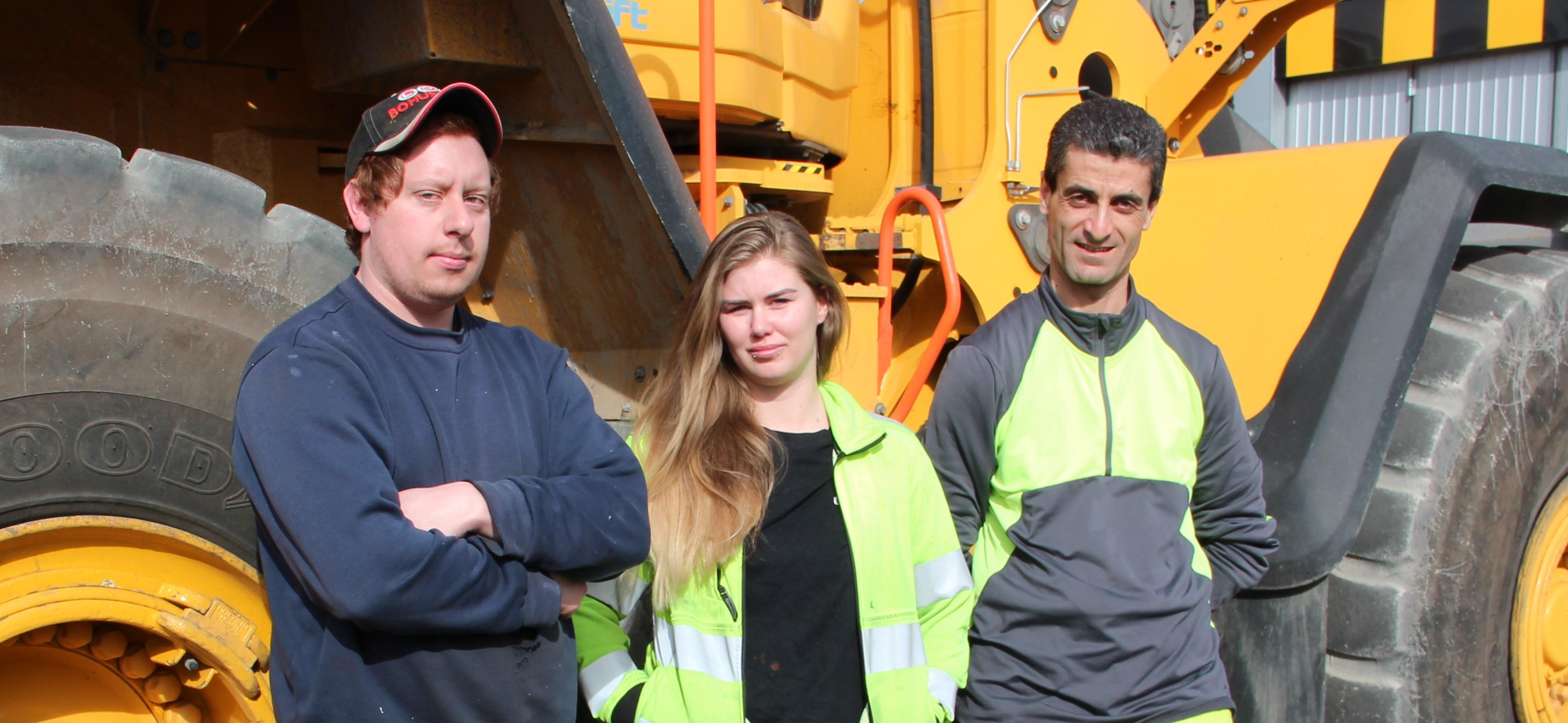 Johan, Sandra och Fadi
