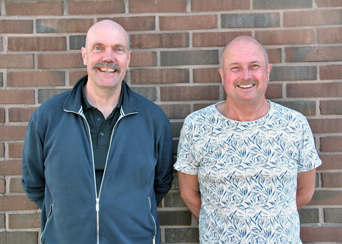 Våra personalmän Håkan Karlsson och Leif Jansson